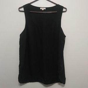 Smartset black sequins camisole XL